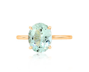 Trabert Goldsmiths 2.08ct Oval Paraiba Aquamarine Aura Ring E1883