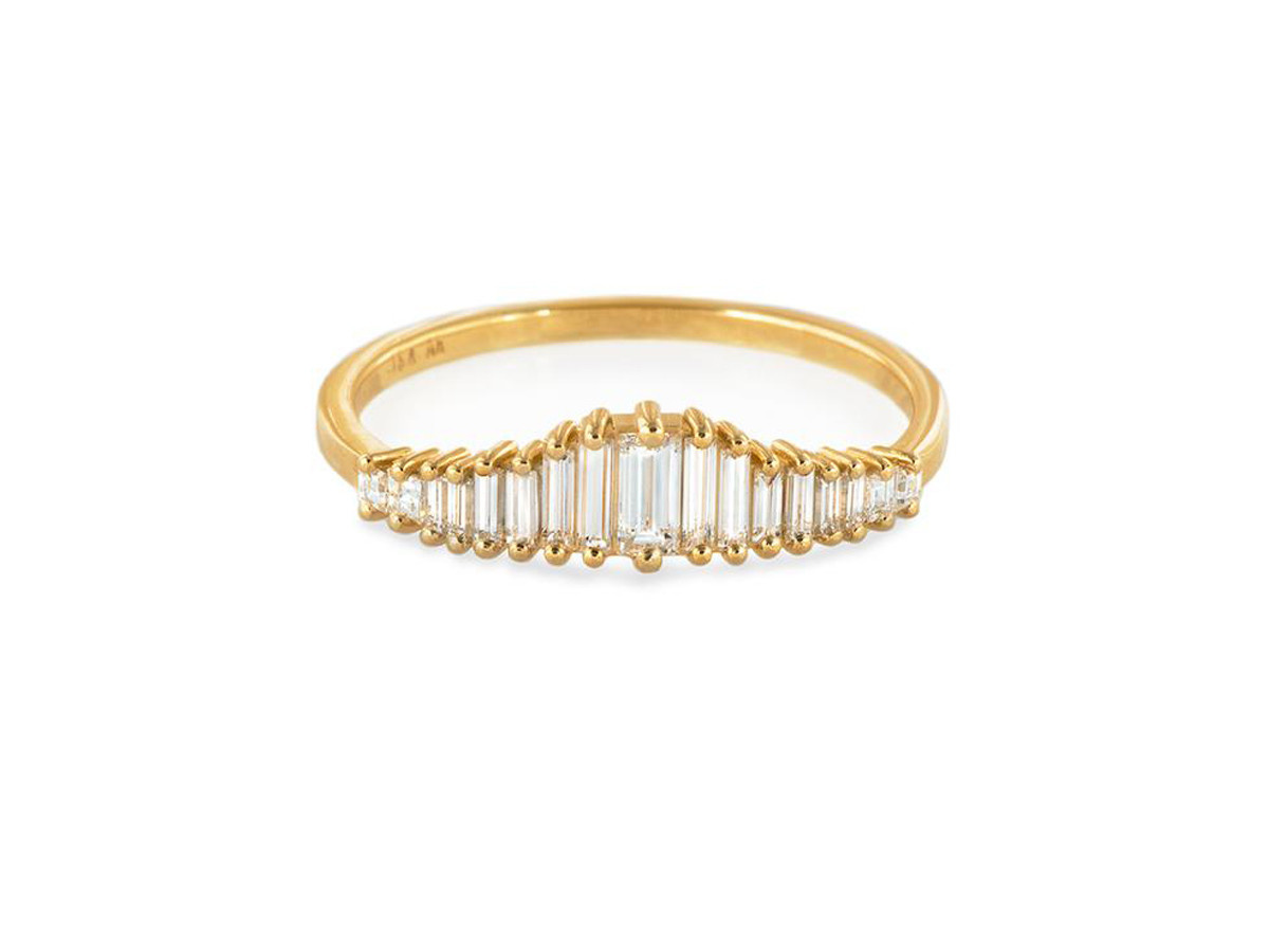Artëmer Baguette Diamond Tiara Ring
