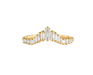 Artëmer Tapered Baguette Tiara Ring AT5