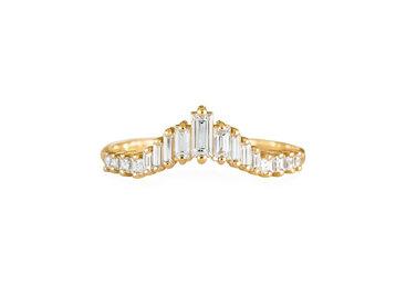 Artëmer Tapered Baguette Tiara Ring AT5