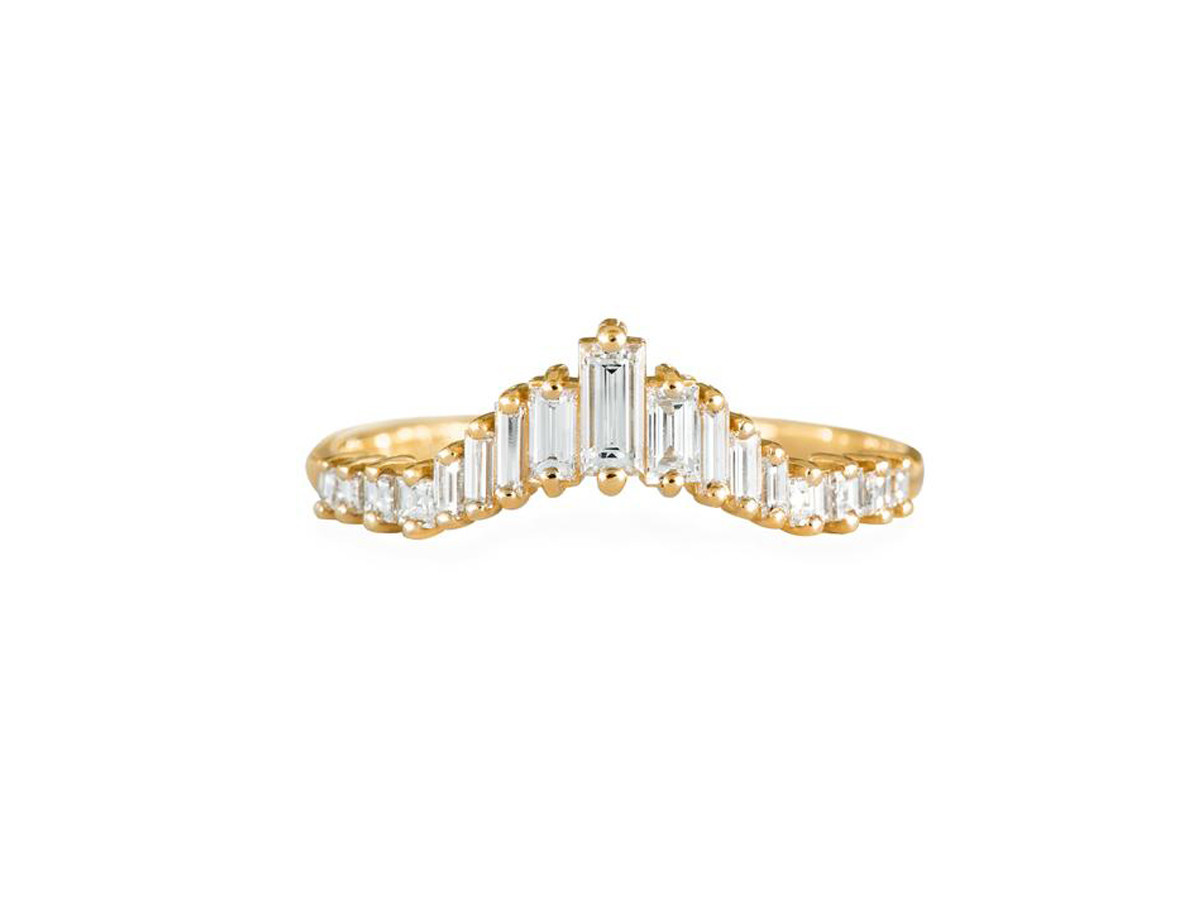 Artëmer Tapered Baguette Tiara Ring