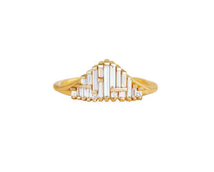 Artëmer Tapered Deco Gradient Baguette Ring AT6