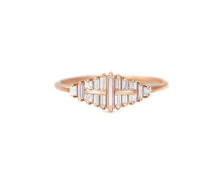 Artëmer Mirrored Baguette Diamond Ring AT7