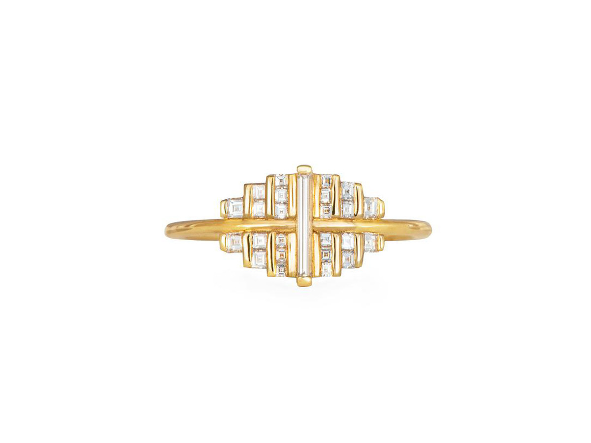 Artëmer Baguette Diamond Needle Cluster Ring