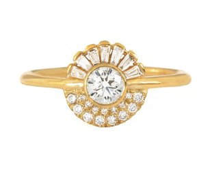 Artëmer Round & Baguette Diamond Spray Cluster Ring AT9
