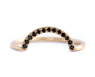 Artëmer Large Nesting Black Diamond Band AT12
