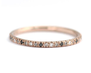 Artëmer Mixed Diamond Eternity Rose Gold Band AT13