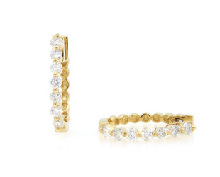 Dilamani Diamond Hoop Earrings DL20