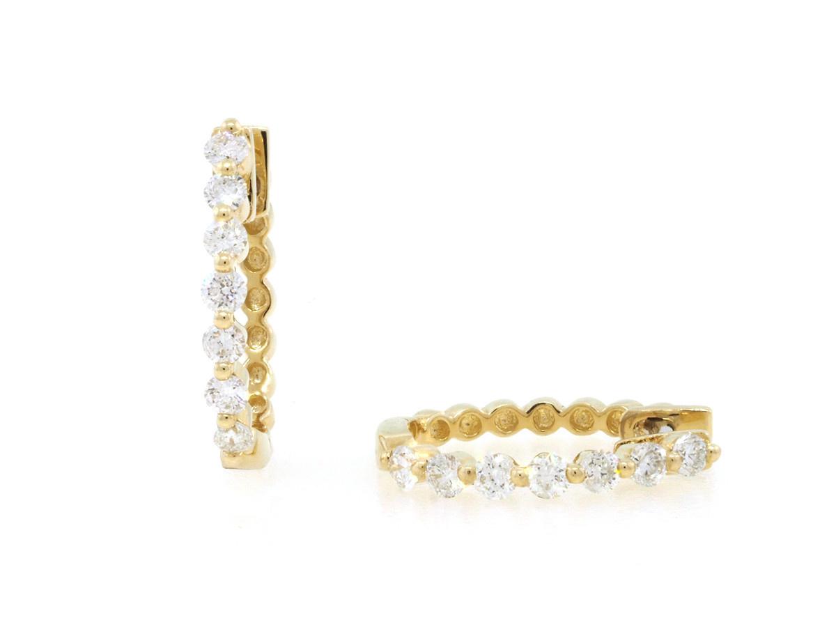 Dilamani Diamond Hoop Earrings