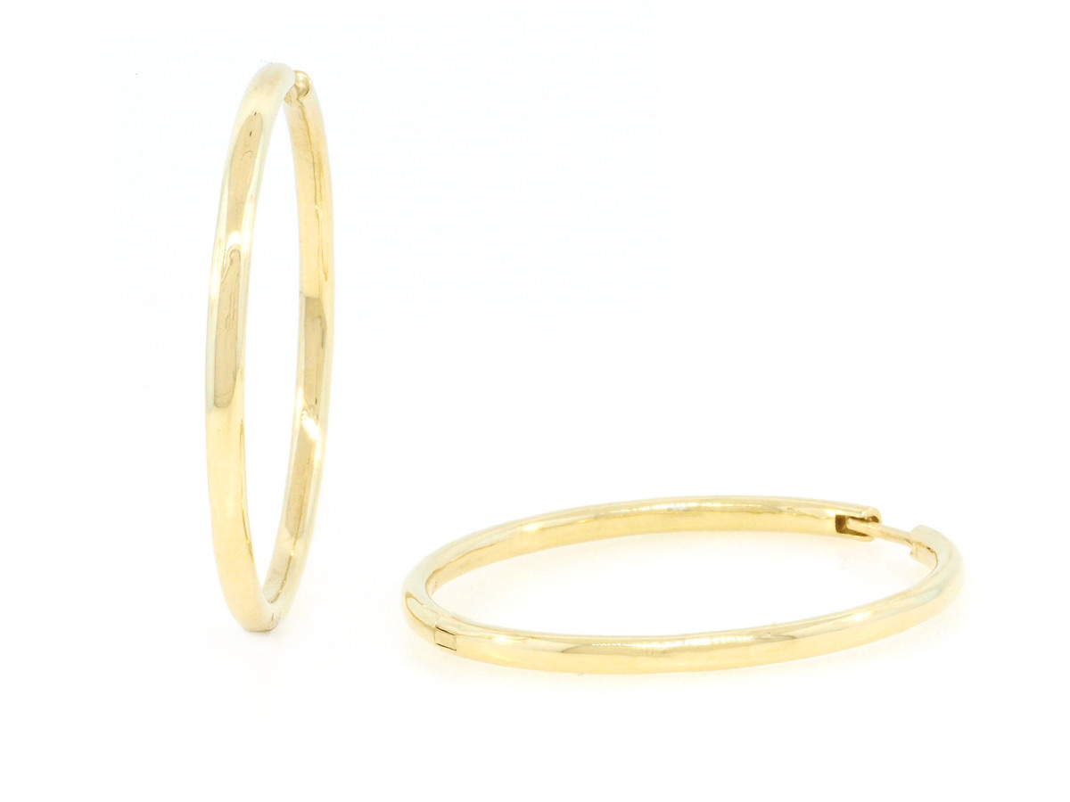 Trabert Goldsmiths 38mm Gold Hoops E1915