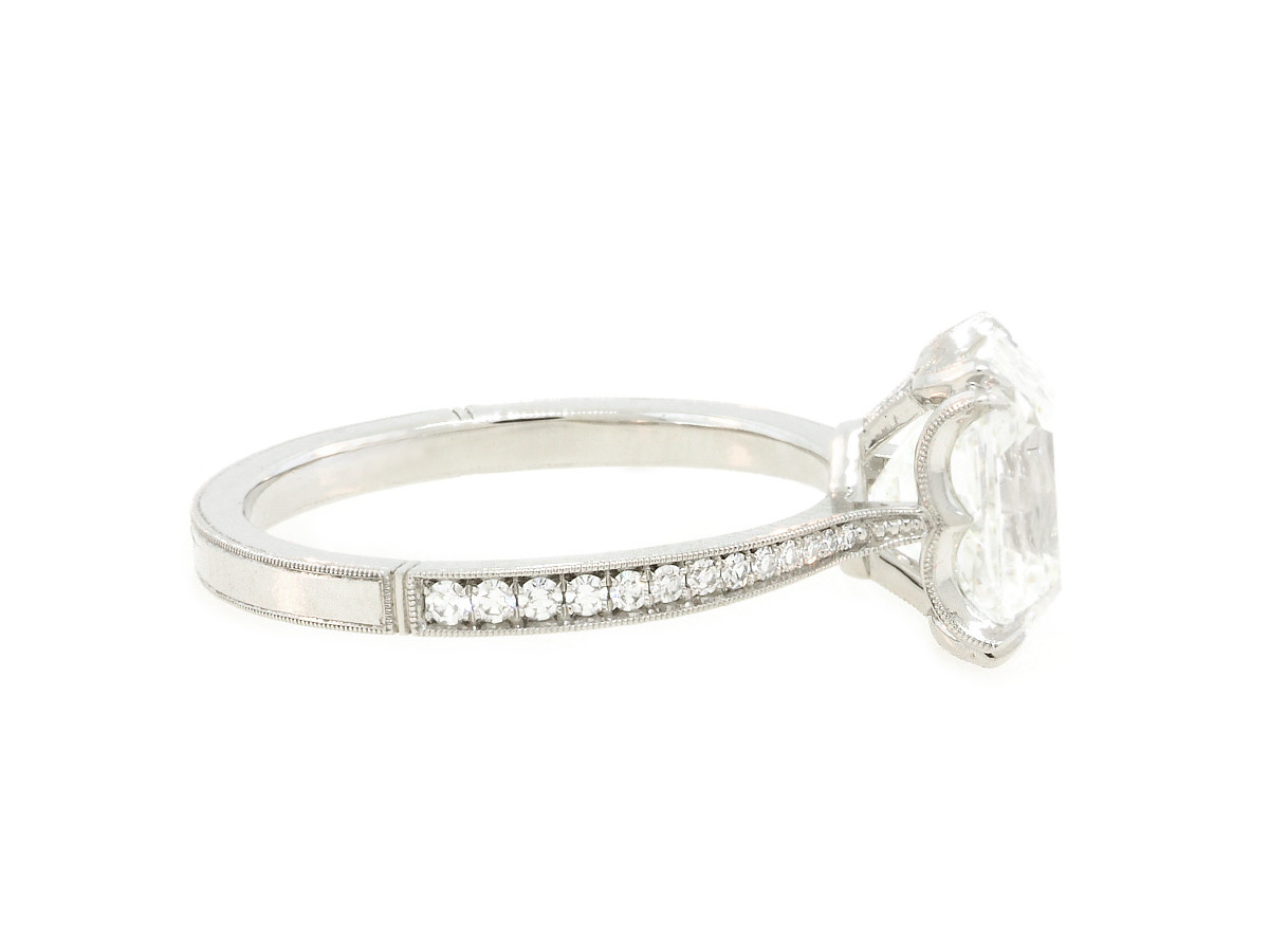 Erika Winters 2.44ct Emerald Cut Diamond Willa Ring