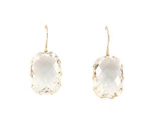 Jamie Joseph Jewelry Designs Rose Cut White Topaz Drop Earrings JD160