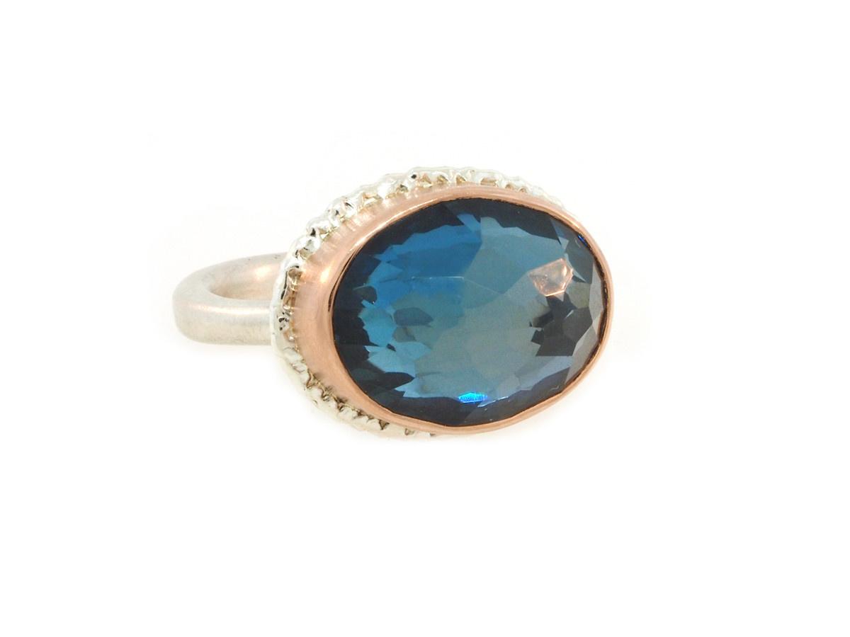 Jamie Joseph Jewelry Designs London Blue Topaz Bezel Ring