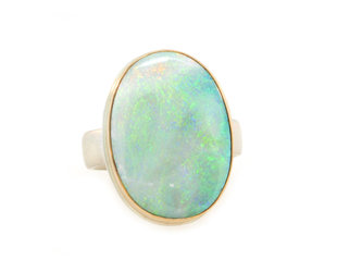 Jamie Joseph Jewelry Designs Oval Australian Opal Statement Ring JD152