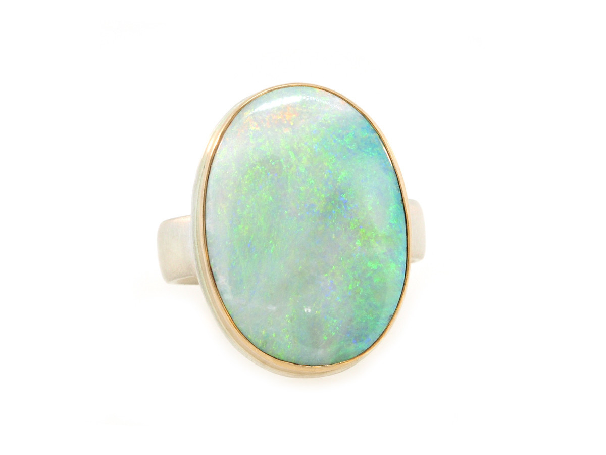 Jamie Joseph Jewelry Designs Oval Australian Opal Statement Ring