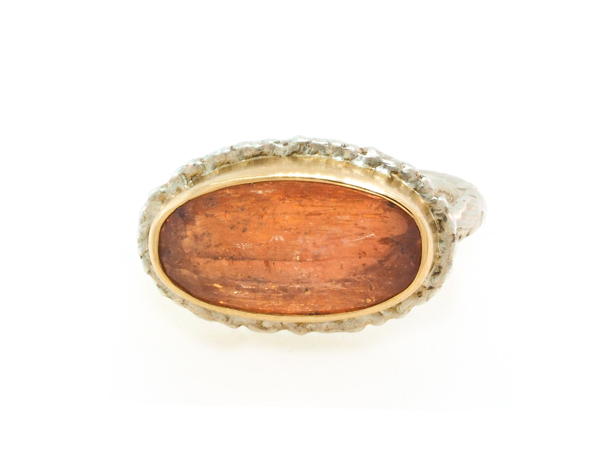 Jamie Joseph Jewelry Designs Oval Imperial Topaz Bezel Ring