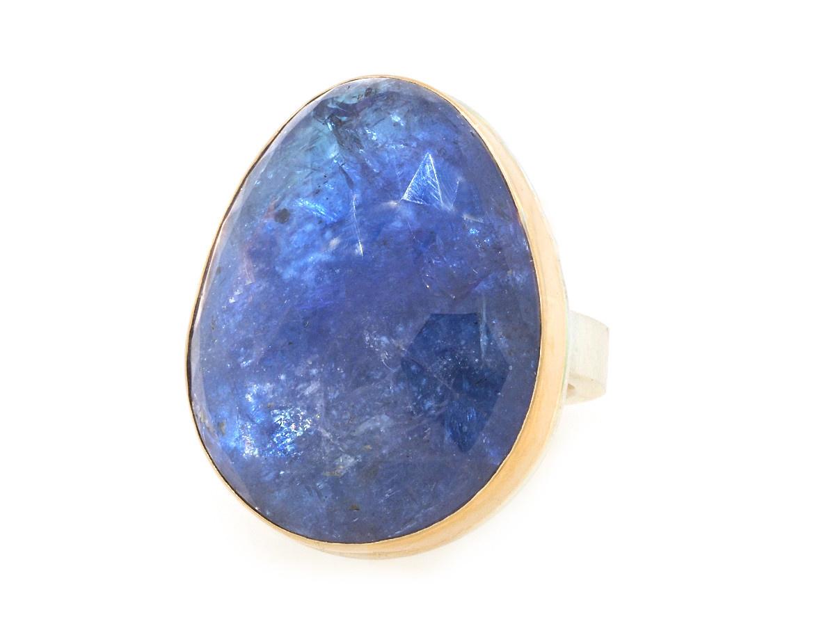 Jamie Joseph Jewelry Designs Tanzanite Bezel Statement Ring