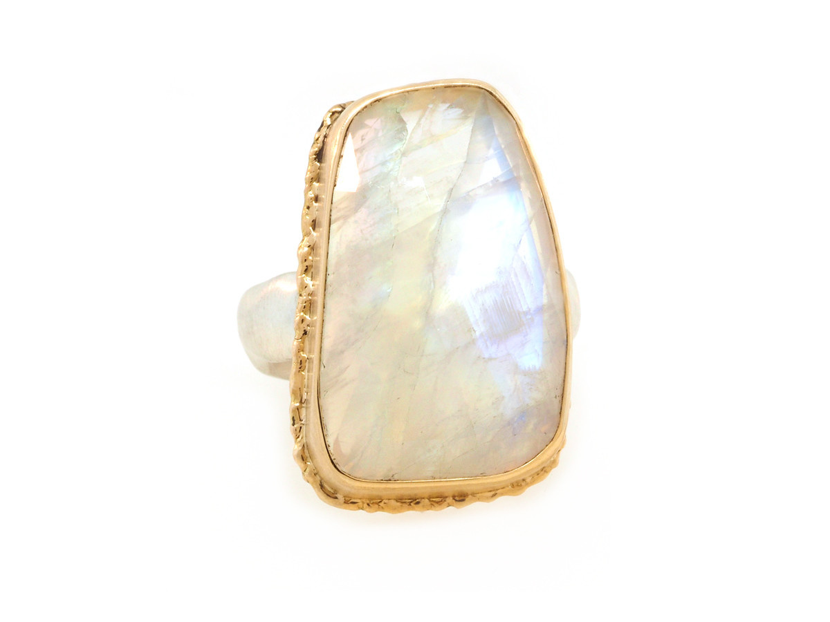 Jamie Joseph Jewelry Designs Rainbow Moonstone Bezel Ring