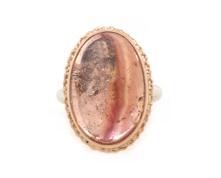 Jamie Joseph Jewelry Designs Sunset Pink Tourmaline Bezel Ring JD141