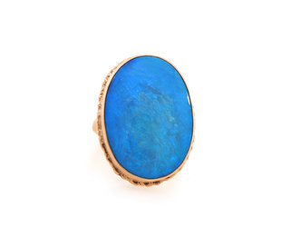 Jamie Joseph Jewelry Designs Oval Australian Opal Statement Ring JD139
