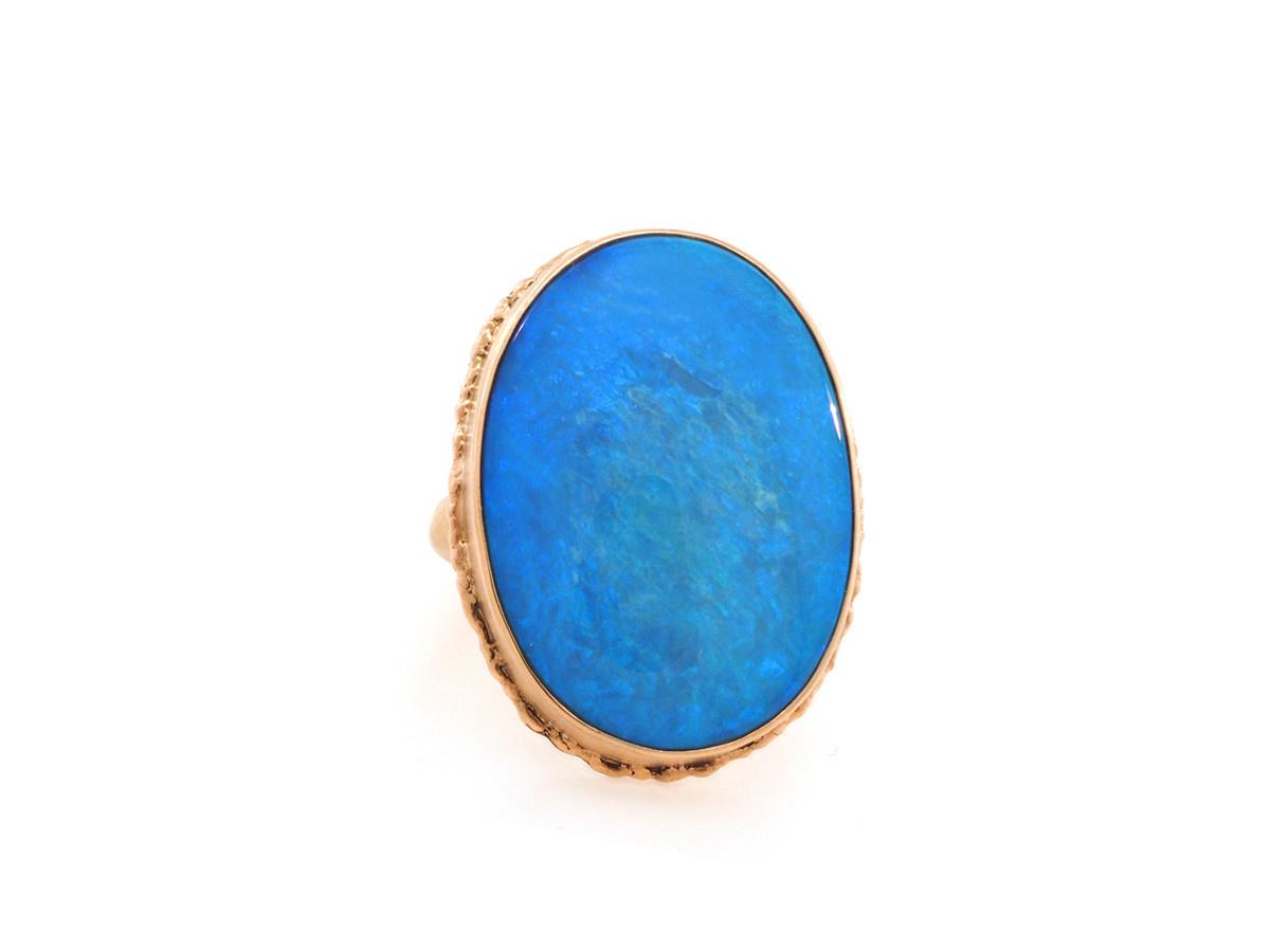 Jamie Joseph Jewelry Designs Oval Australian Opal Statement Ring