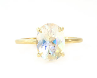 Trabert Goldsmiths 2.25ct Rainbow Moonstone Aura E1952