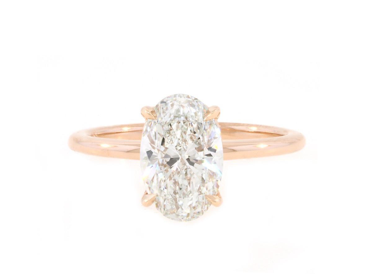 Trabert Goldsmiths 2.01ct FSI1 Oval Diamond Aura Ring