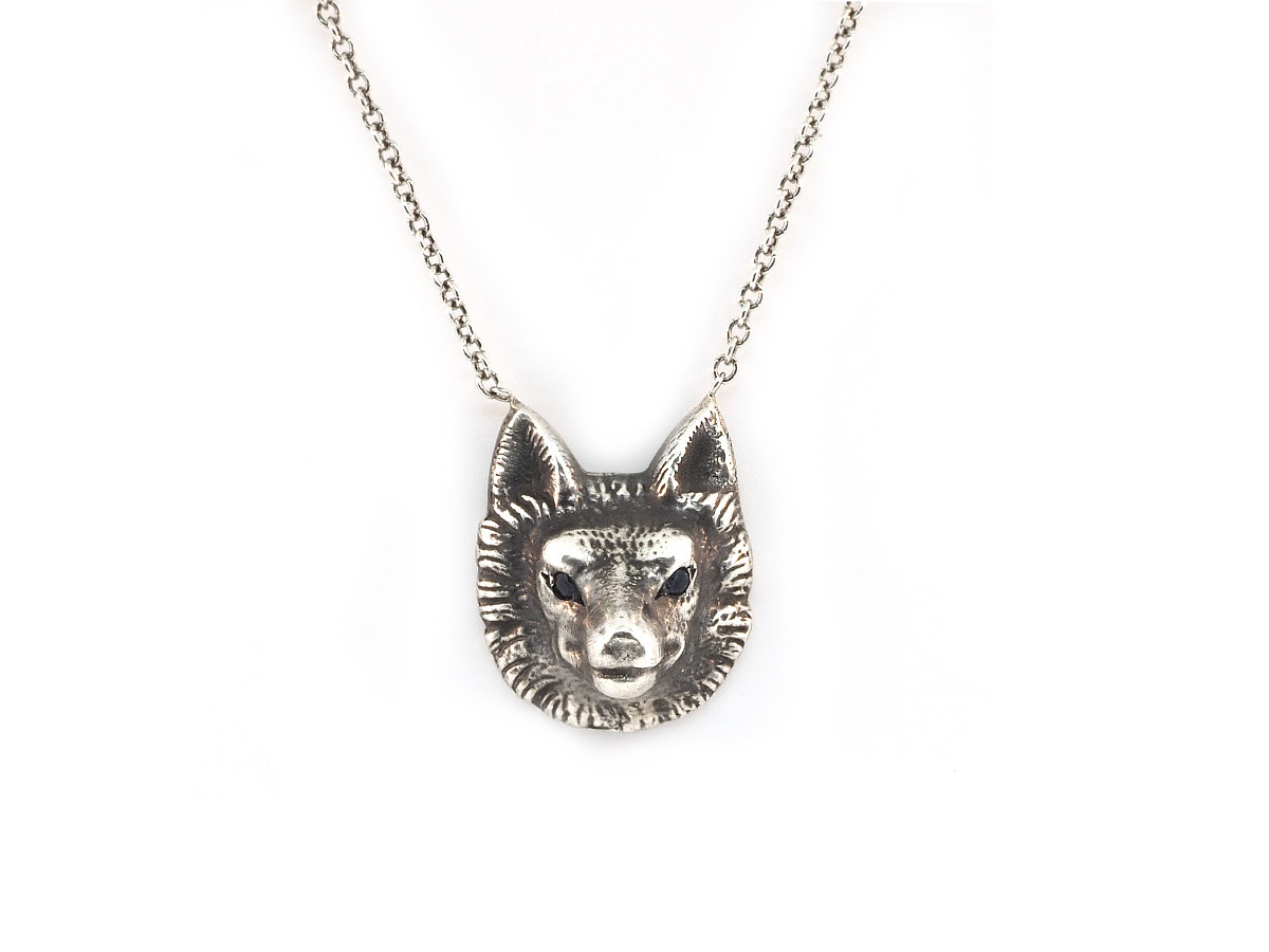 Trabert Goldsmiths Wolf Pendant