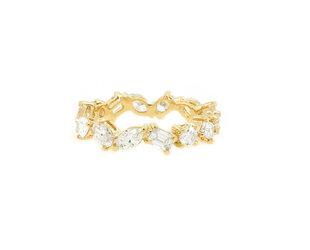 Trabert Goldsmiths 2.13ct Mixed Diamond Tribeca Eternity Ring E1985