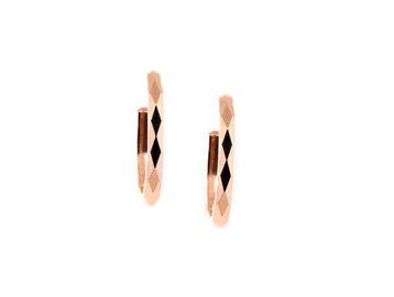 Trabert Goldsmiths Spectra Faceted Rose Gold Earrings E1958