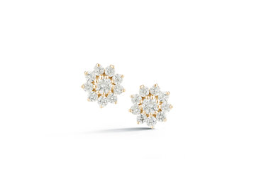 Dana Rebecca Yamina Petite Pointed Flower Diamond Studs DR28