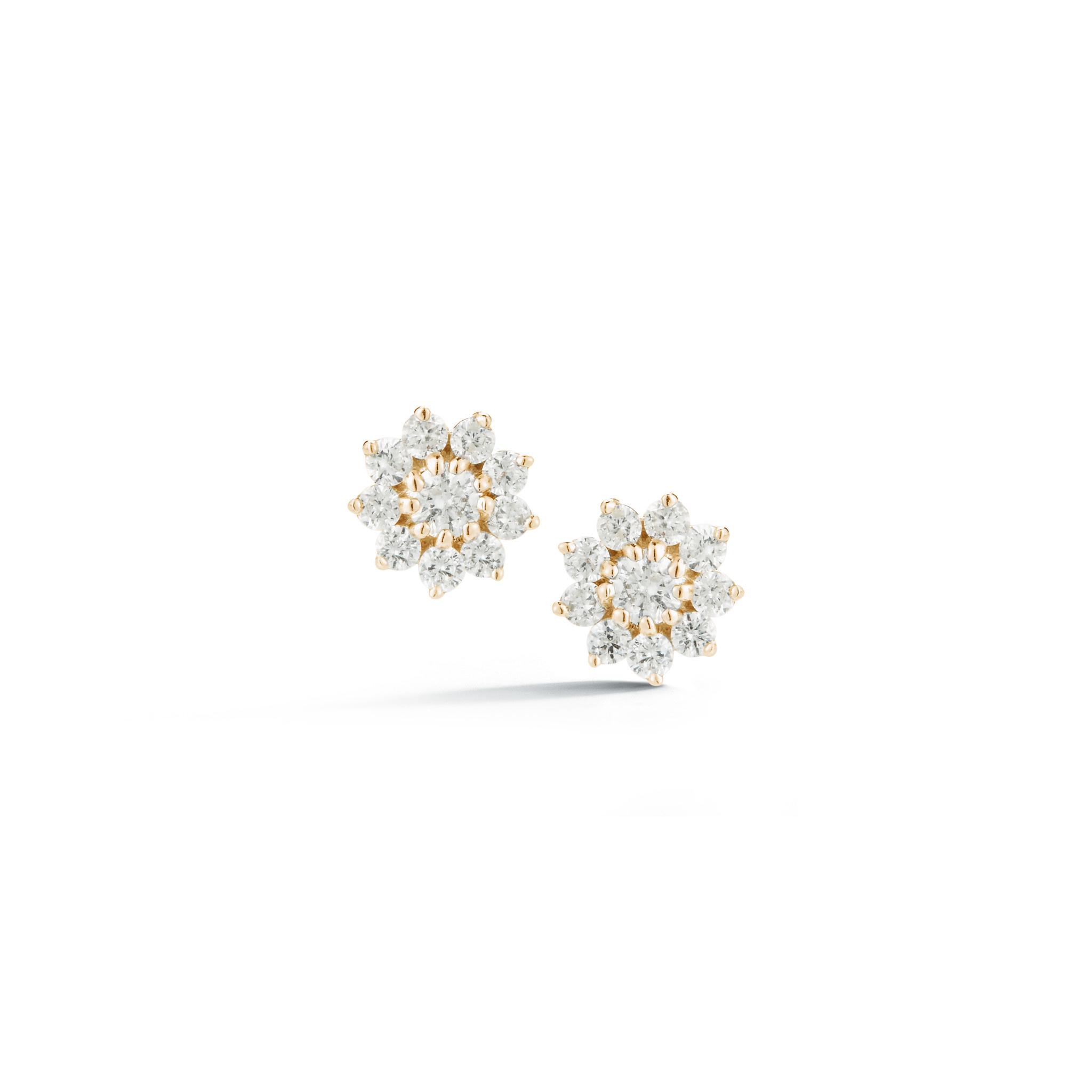 Dana Rebecca Petite Yamina Pointed Flower Diamond Studs