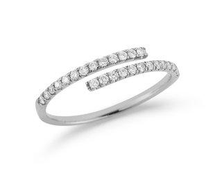 Dana Rebecca Lauren Joy Bypass Diamond  White Gold Ring DR29