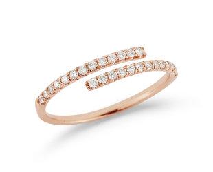 Dana Rebecca Lauren Joy Bypass Diamond Rose Gold Ring DR30