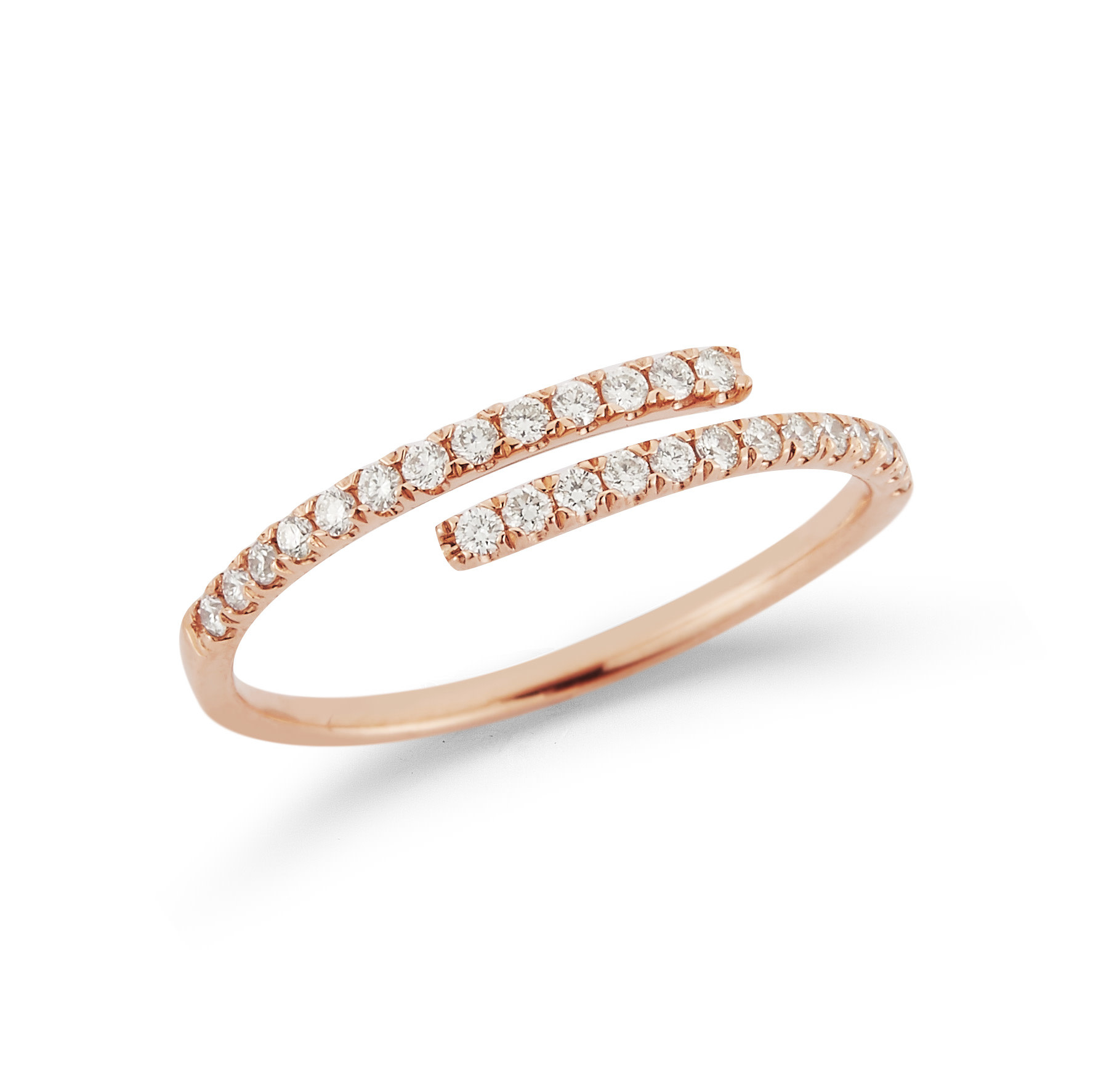 Dana Rebecca Lauren Joy Bypass Diamond Rose Gold Ring