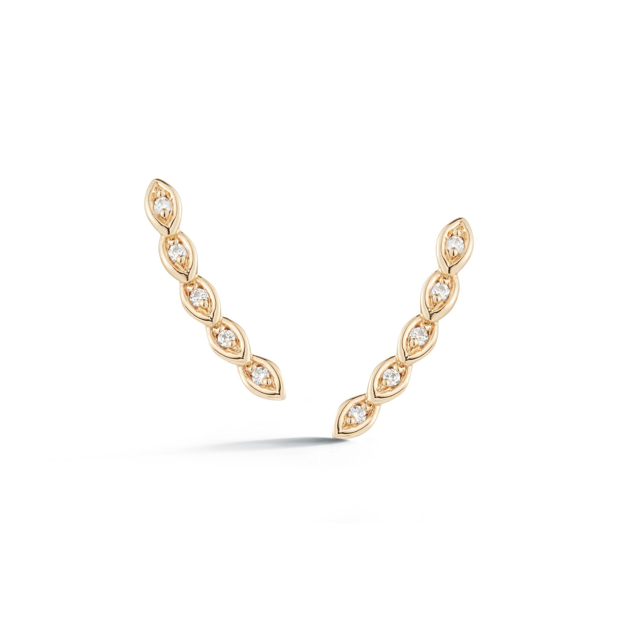 Dana Rebecca Lori Paige Mini Diamond Climber Earrings
