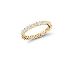 Dana Rebecca Millie Ryan Princess Dia Yellow Gold Ring DR37