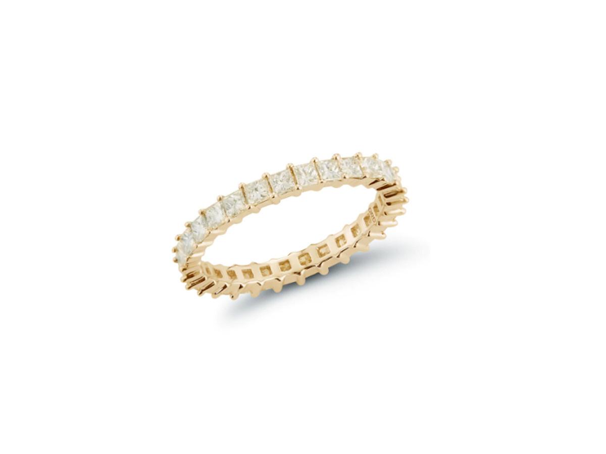 Dana Rebecca Millie Ryan Princess Diamond Yellow Gold Ring