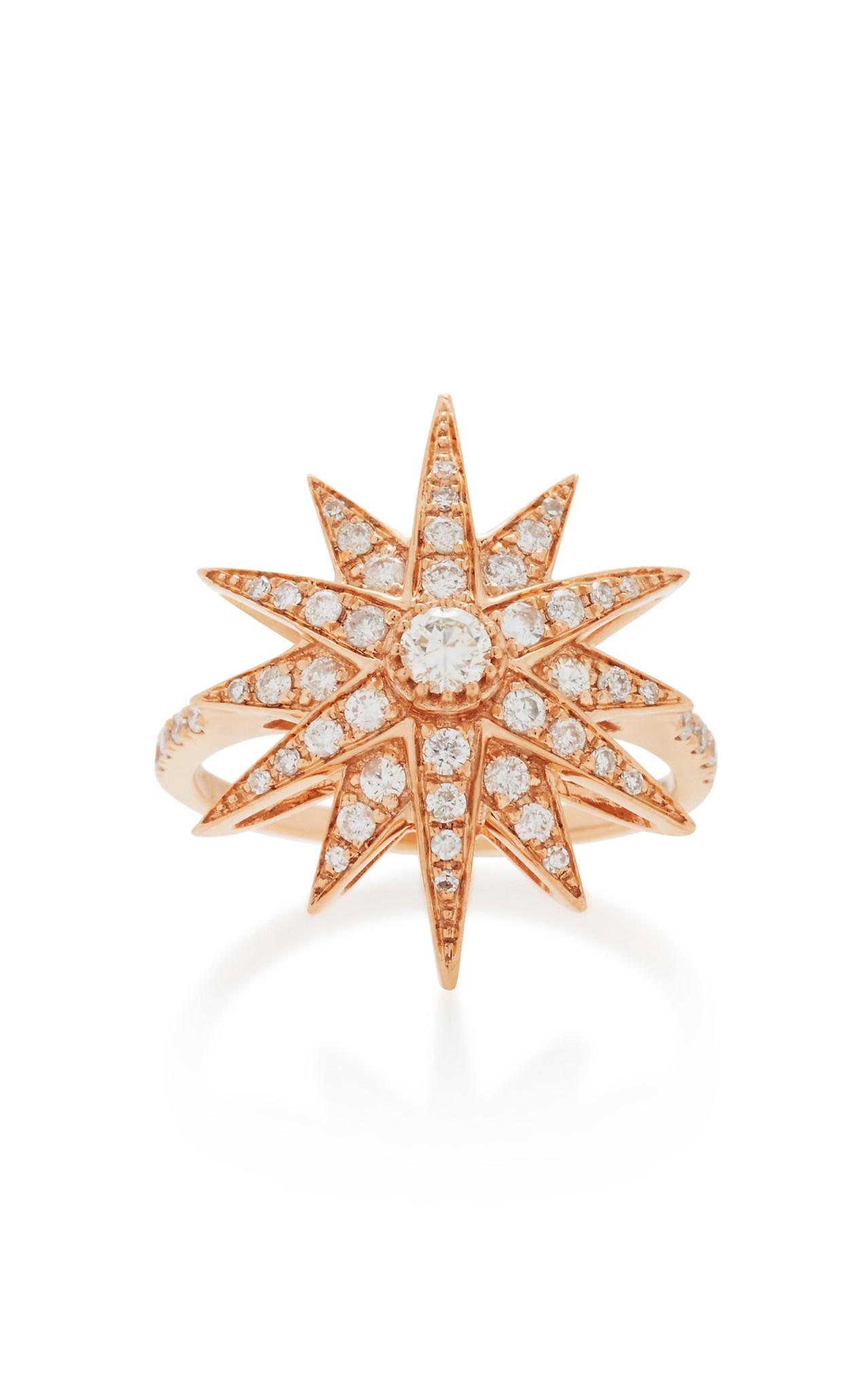 Diamond Starburst Rose Gold Ring
