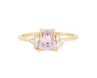 Trabert Goldsmiths 'Peony' Pink Sapphire Yellow Gold Ring E2007