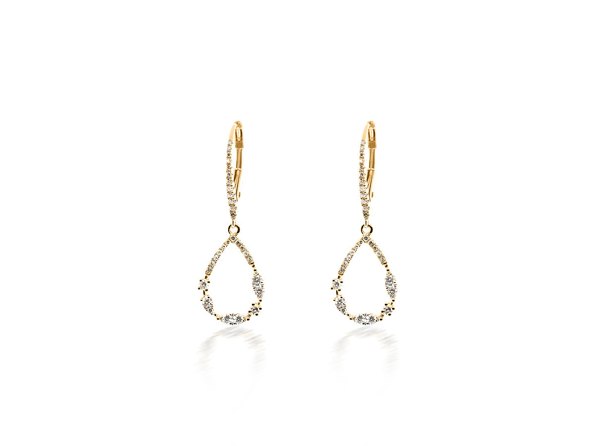 Liven Diamond Teardrop Earrings