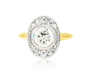 Trabert Goldsmiths 1.36ct KVS2 OE Diamond Ollusion Ring E1930