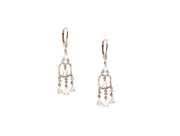 MeiraT Designs White Topaz And Diamond Chandelier Earrings MRT10