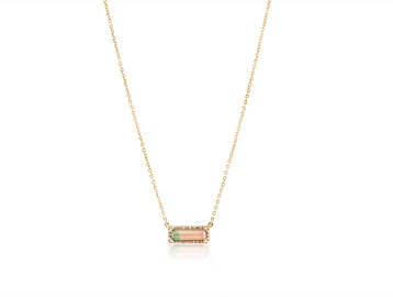 Trabert Goldsmiths Bi-Color Tourmaline Necklace E1941