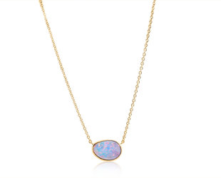 Trabert Goldsmiths Asymmetrical Opal Rose Gold Pendant E1961