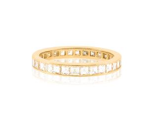 Trabert Goldsmiths 1.53cts Carre Cut Diamond Eternity Band E1964