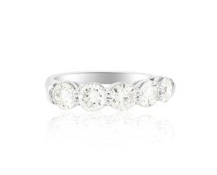 Trabert Goldsmiths 2.11cts Five Stone Diamond Ring E1967