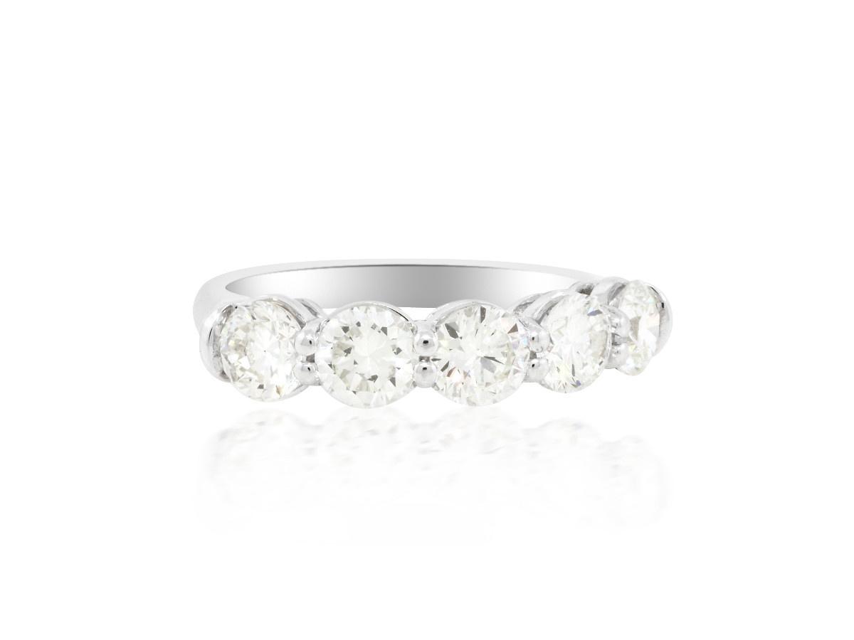 Trabert Goldsmiths 2.11cts Five Stone Diamond Ring