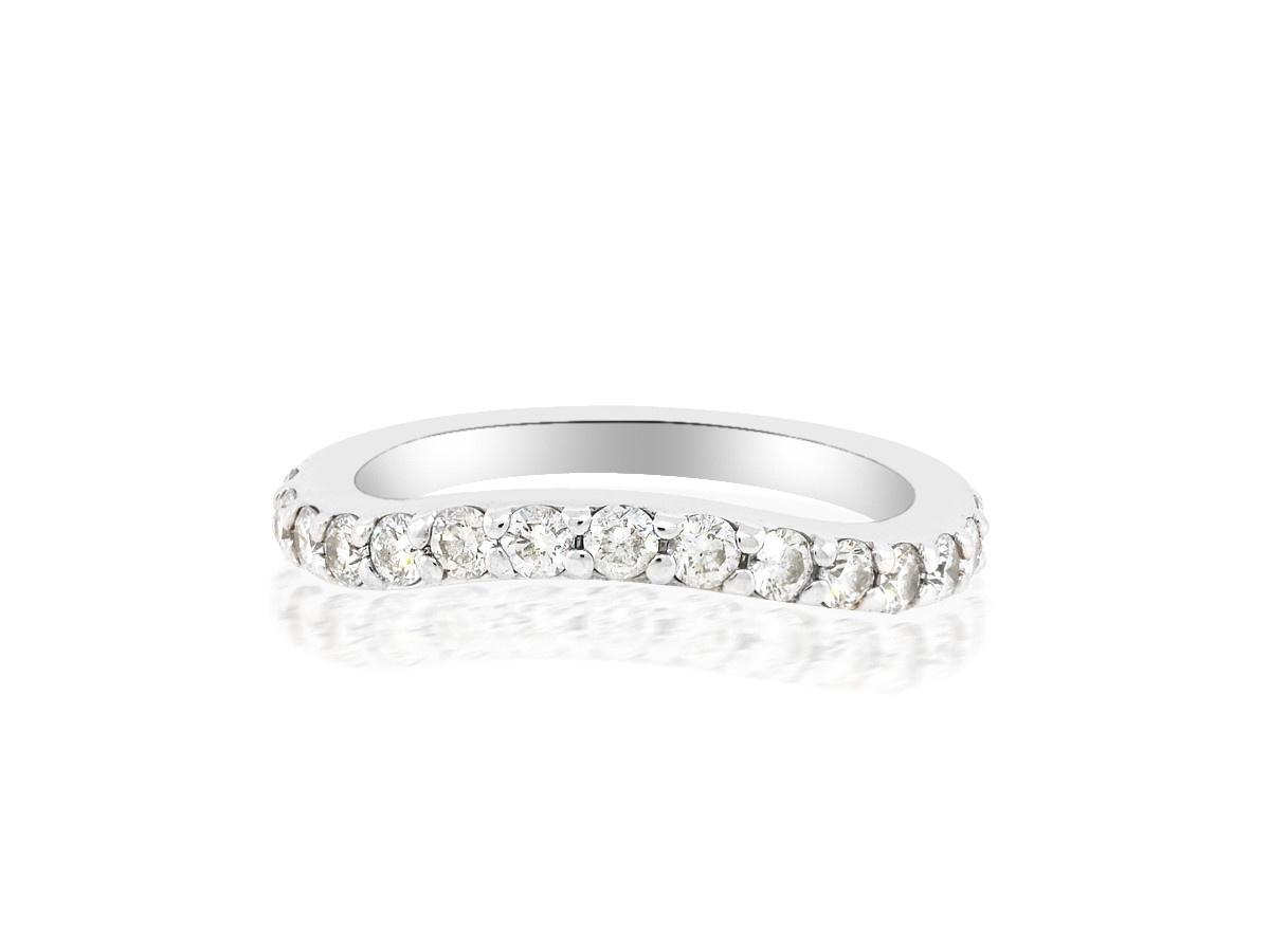 Trabert Goldsmiths Diamond Pave Curved Ring