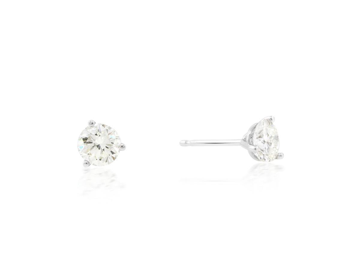 Trabert Goldsmiths 0.89 I/JVS1 Diamond Stud Earrings